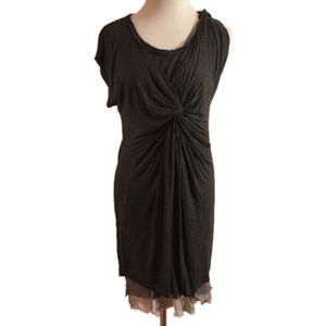 Anthropologie Dolan Dress Twist Knot Silk Trim XS
